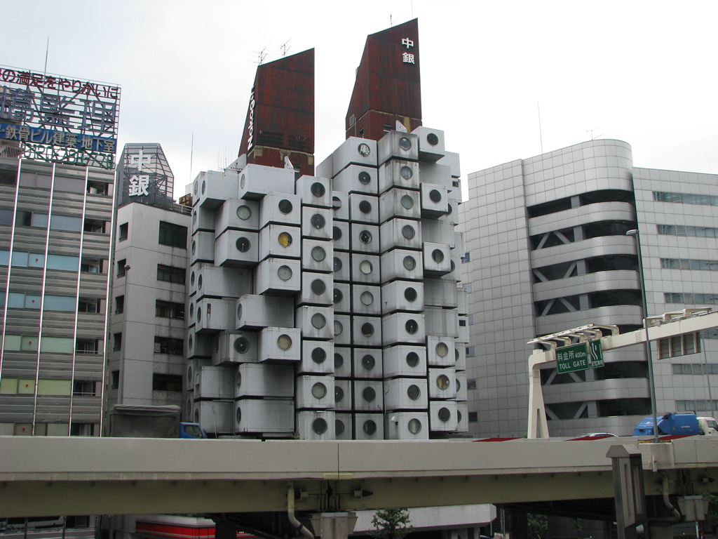 Nakagin Capsule Tower Tokyo Japan Photo Gallery