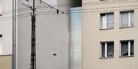 Edgar Kerets Thinnest House, Warsaw, Poland