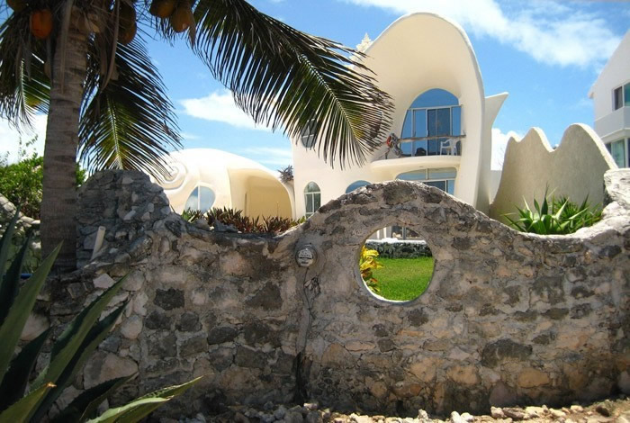 Conch Shell House Isla Mujeres Mexico Photo Gallery Funny - Conch-shell-house